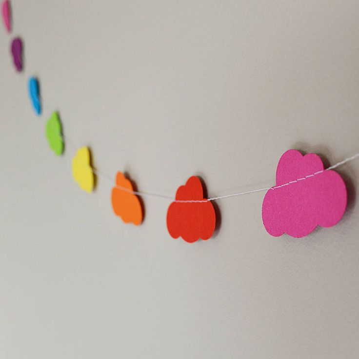 rainbow clouds paper garland by funky frills uk | notonthehighstreet.com