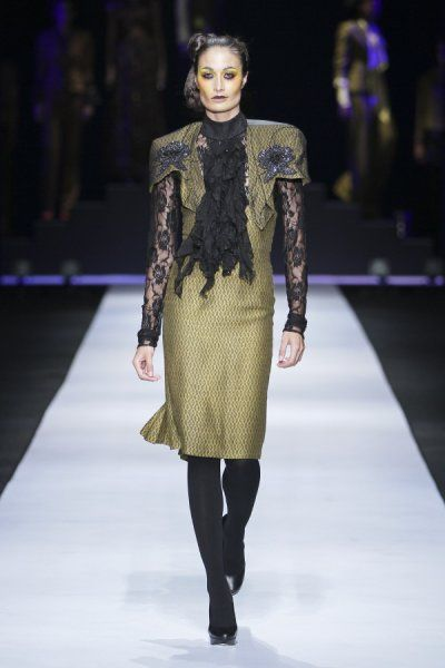 #DTCouture. Olive and black - beautiful!