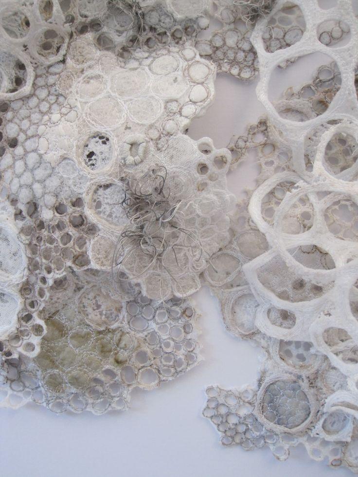 3D texture embroidery, 50 cm x 50 cm.