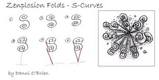 Zenplosion folds...zentangling directions