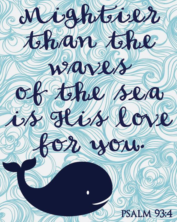 Whale Nursery Sign Mightier Than The Waves by MaggieJDesigns