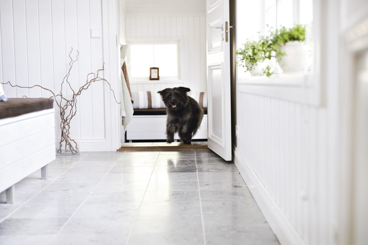 Stone floors are easy to keep clean.