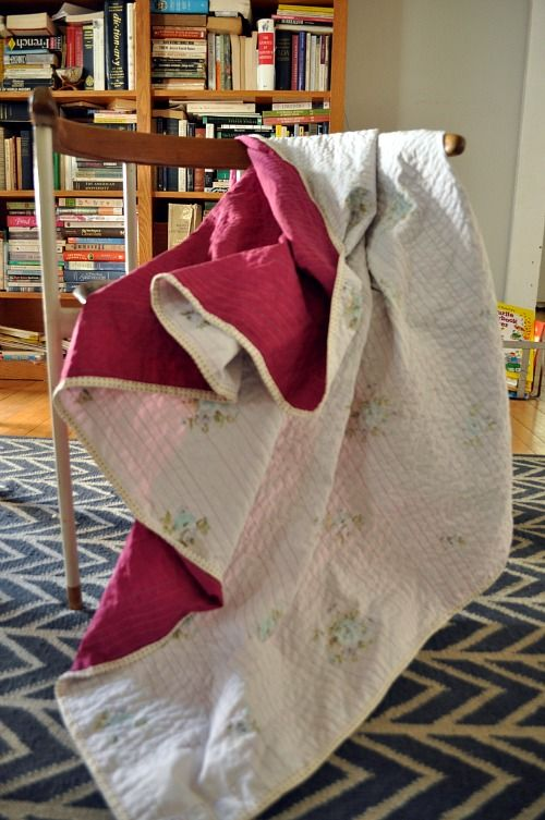 """Two sheets """"quilted"""" together for a summer blanket - brilliant!  MAKE THESE for #Dressforromania or for boys next summer"""