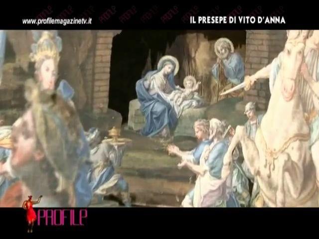 Lo storico dell'arte Gaetano Bongiovanni presenta alle telecamere di PROFILE il presepe di Vito D'Anna, capolavoro settecentesco in esposizione per la prima volta a Palazzo Ajutamicristo.