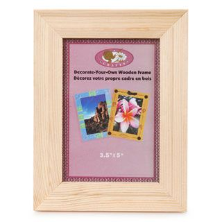Unfinished wood picture frame wide inches for Unfinished wood frames for crafts
