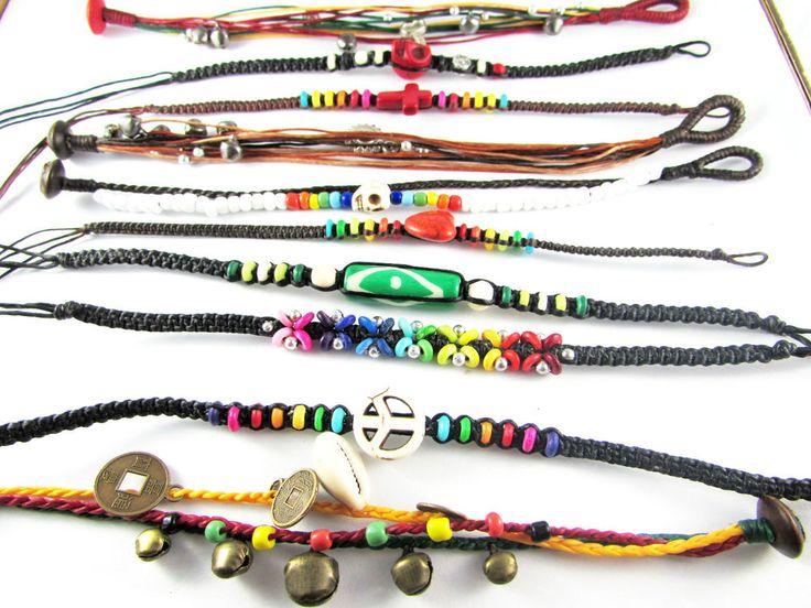 10 pcs Handmade Braided Friendship Bead Stone Charm Wristband Bracelet