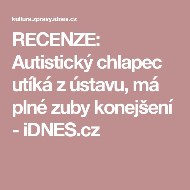 RECENZE: Autistický chlapec utíká z ústavu, má plné zuby konejšení - iDNES.cz