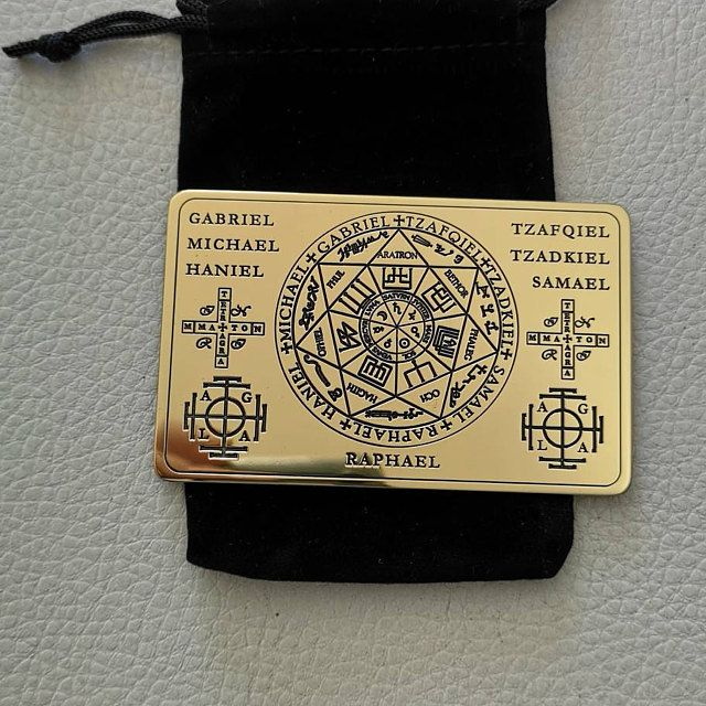 Wallet card The Seals of the Seven Archangels The Seven Archangels sigil