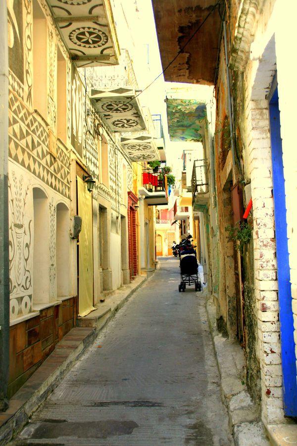 Pyrgi village, Chios, Greece