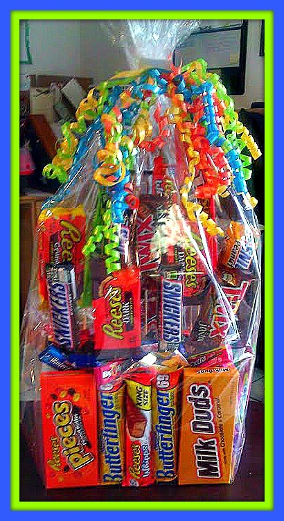 Candy bouquet gift wrapped
