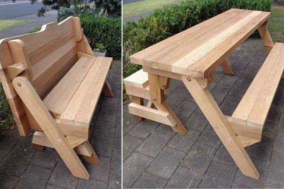 Une seule pièce pliage des plans de table banc et par BuildEazy