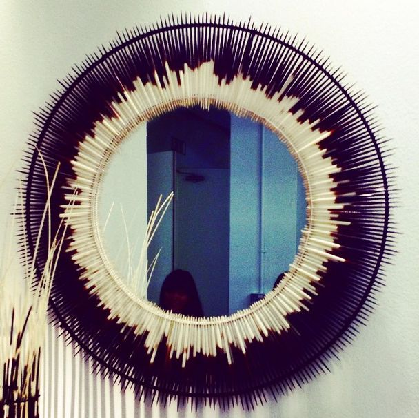 For that tribal look, hedgehog mirror