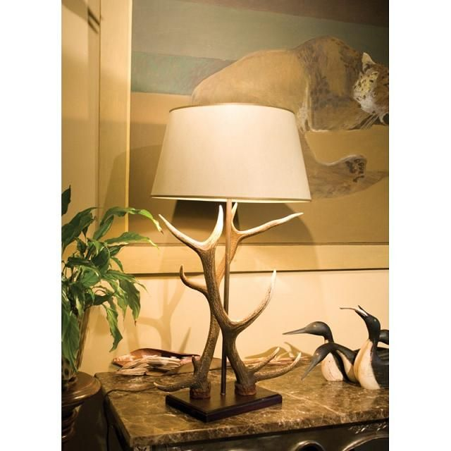 Double Antler #Table #Lamp  - ideal for living space