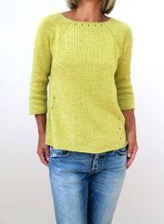 Пуловер связанный по кругу спицами