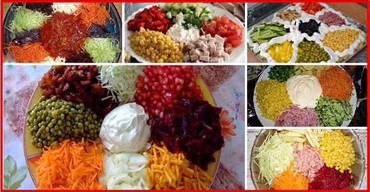 """Salată """"Curcubeu"""" - un aperitiv ce poate fi servit în diverse moduri! Alegeți combinația preferată! - Bucatarul"""