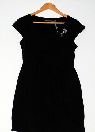 Kup mój przedmiot na #vintedpl http://www.vinted.pl/damska-odziez/krotkie-sukienki/8337329-czarna-sukienka-bawelniana-z-kokardami-house-rozm-s