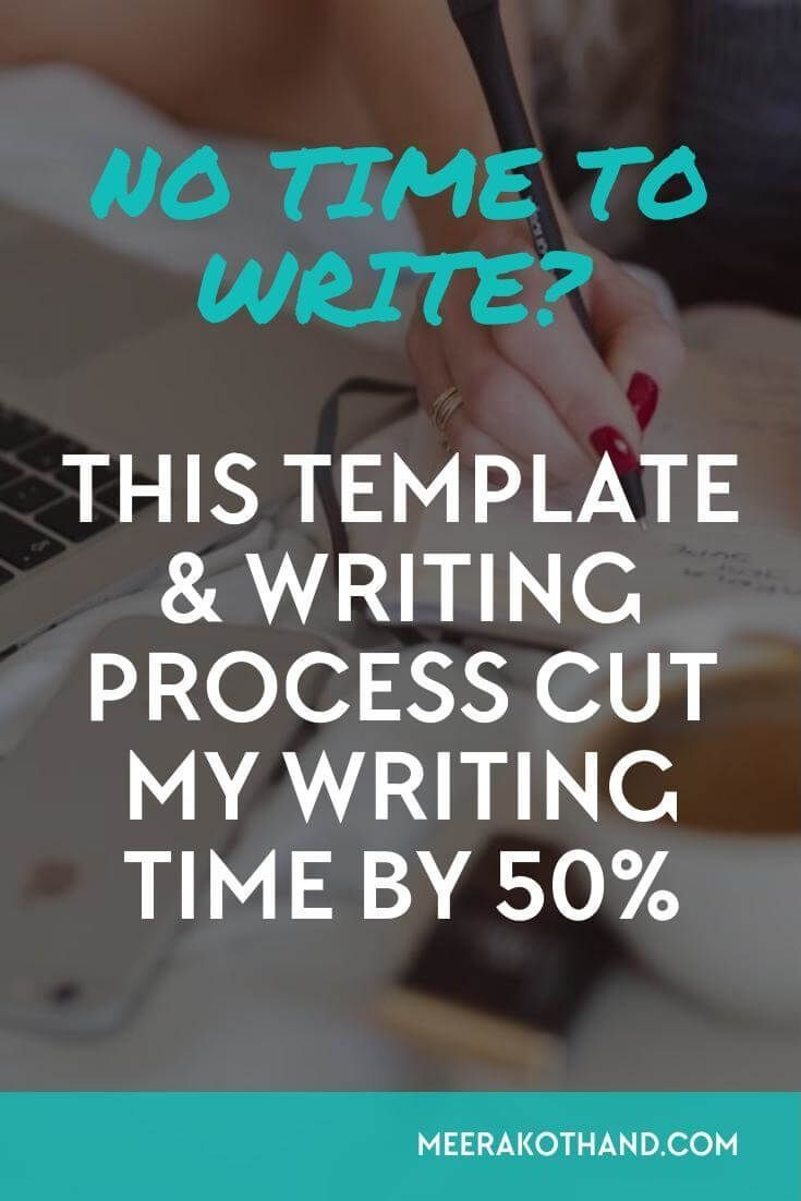 Struggling to find time to write?When you work full time or having kids to care for, it's difficult to focus and write quality posts. I've found a simple process and template that has helped me cut by writing time by 50%. It should work for you too!:
