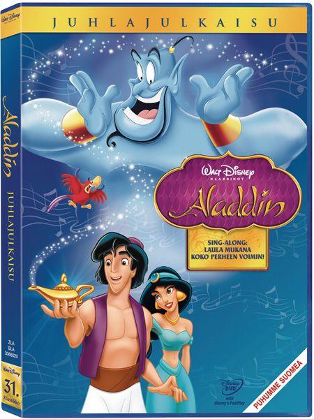 Aladdin-elokuvassa kaunis Jasmine ja köyhä mutta hyväsydäminen Aladdin joutuvat seikkailuun. He vapauttavat taikalampusta Hengen ja löytävät lentävän maton. Mutta saako paha Jafar heidät kiinni ja toteutettua häijyt suunnitelmansa?