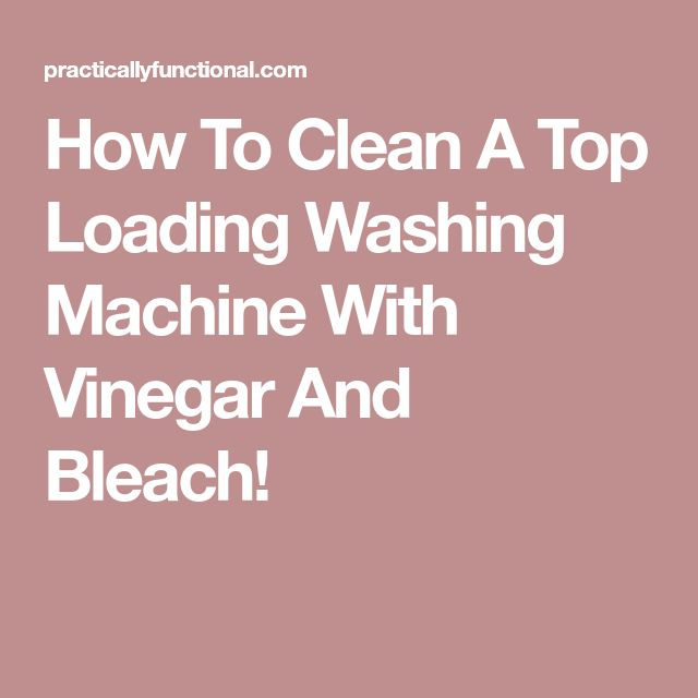 how to clean washing machie with bleach