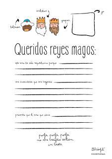 Carta a los Reyes Magos para imprimir : Para Niños Con Cabeza