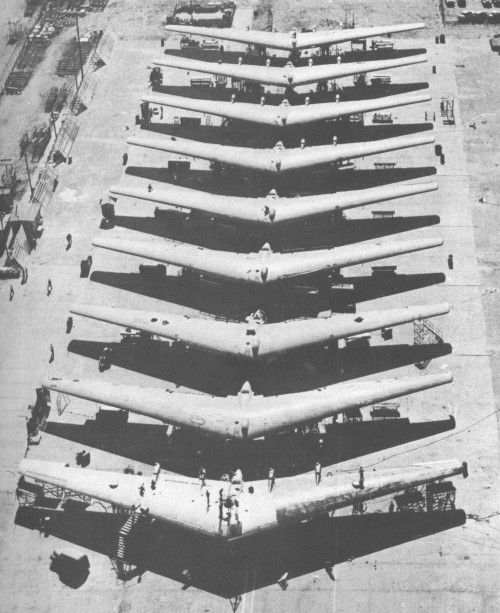 Nine Northrop XB-35 experimental heavy bomber aircraft developed for the United States Army Air Forces during and shortly afterWorld War II by the Northrop Corporation.