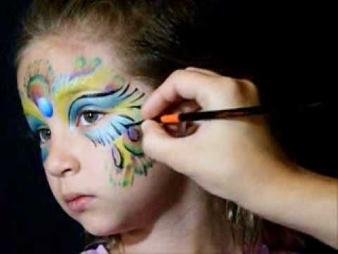 ''VIDEO'' - Peacock Face Paint with Jest Paint.