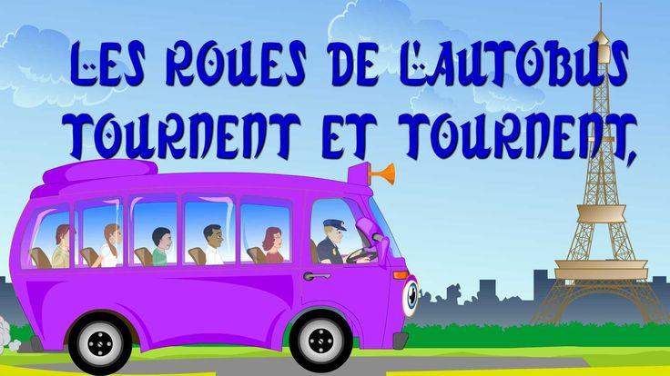 Les roues de l'autobus | Wheels on the bus in French | Comptines et chan...