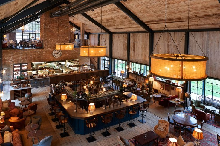 Restaurant @ Soho Farm House, Oxfordshire.  Copyright_soho_farm_house_main_barn