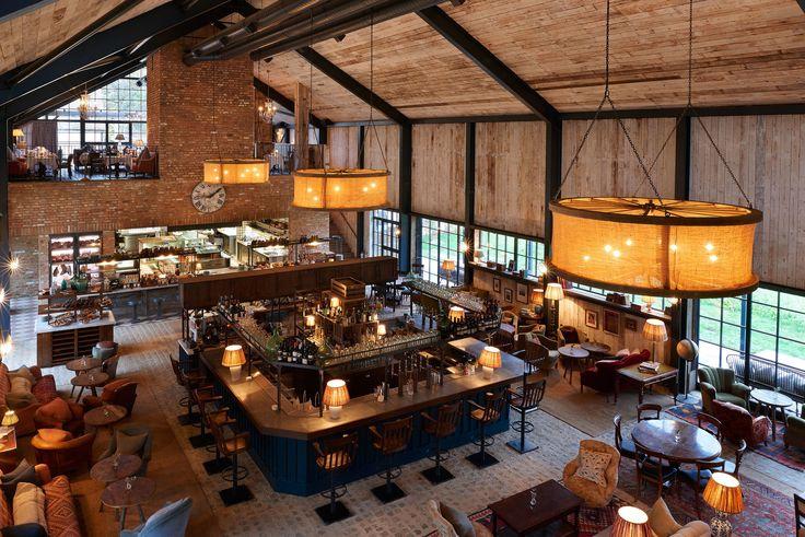 Restaurant @ Soho Farm House, Oxfordshire.  Copyright_soho_farm_house_main_barn