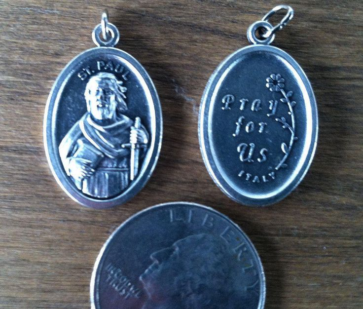St. Paul the Apostle to the Gentiles holy medal - Saul of Tarsus, Catholic saint - patron of authors, evangelists, musicians, reporters by ChillyPumpkin on Etsy