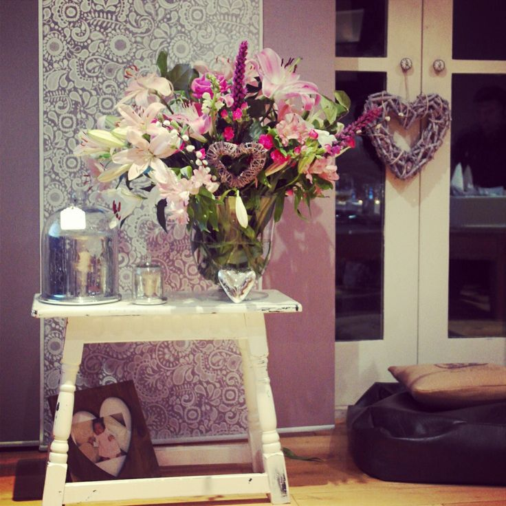 Birthday flowers, pinks purples and whites