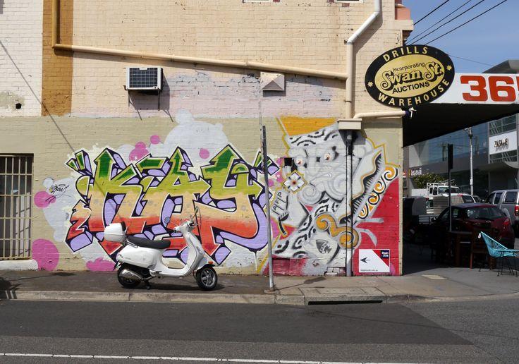 Street Art and Motorcycle at @swanstreetsales