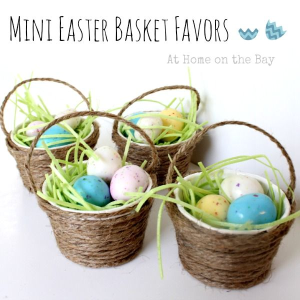 129 best easter basket ideas images on pinterest easter bricolage mini easter basket favors negle Image collections