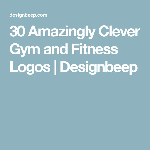 30 Amazingly Clever Gym and Fitness Logos | Designbeep