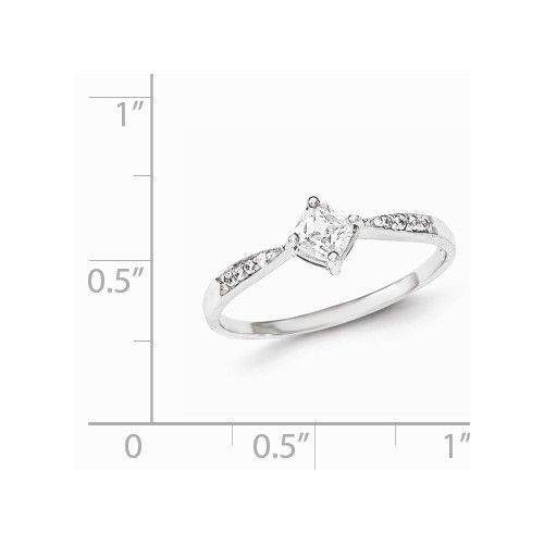Sterling Silver Princess CZ Promise Ring
