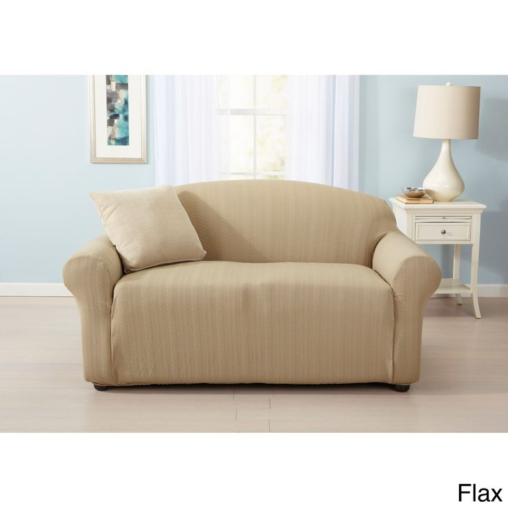 Home Fashion Designs Darla Collection Platinum Strapless Cable Knit Form Fit Loveseat Slipcover (Love Seat -