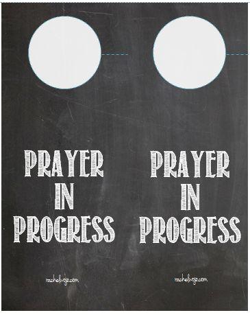 Prayer in Progress Door Hangers- FREE Printable
