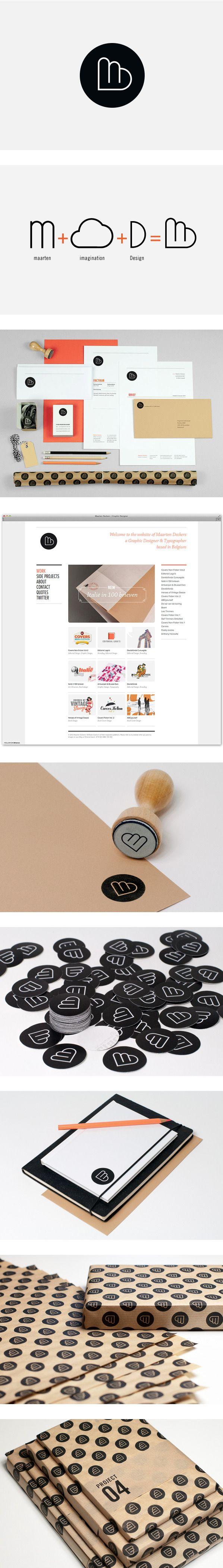 Branding Maarten Deckers by Maarten Deckers, via Behance | #stationary #corporate #design #corporatedesign #identity #branding #marketing < repinned by www.BlickeDeeler.de | Take a look at www.LogoGestaltung-Hamburg.de