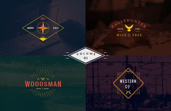 Check out Vintage Logo Templates - vol 5 by Brazvan on Creative Market