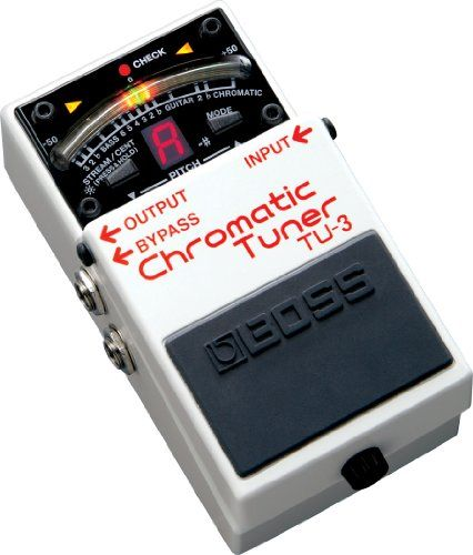 BOSS ボス CHROMATIC TUNER クロマチック・チューナー TU-3 BOSS http://www.amazon.co.jp/dp/B004D8KX7K/ref=cm_sw_r_pi_dp_a1njvb1GN0WP5