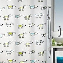 Spirella Cartoon Dog Waterproof PEVA Shower Curtain, Swiss Design Pet Shower