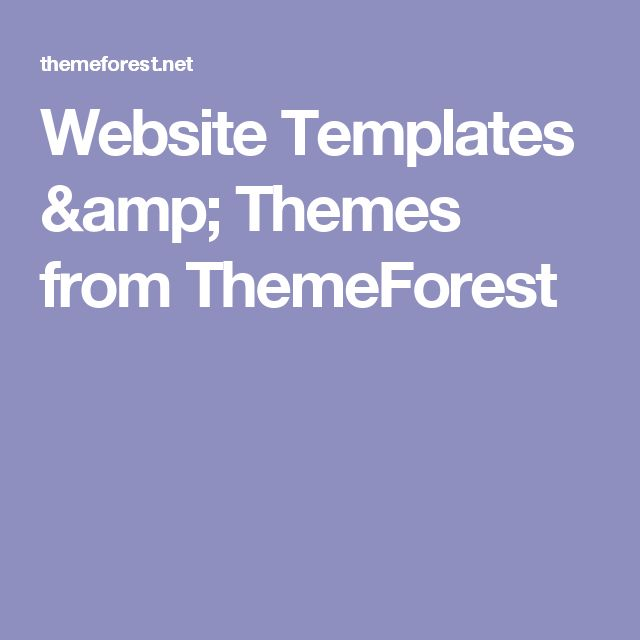 Website Templates & Themes from ThemeForest