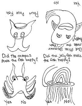 pout pout fish foldable book