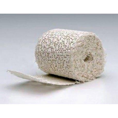 La benda gessata è impiegata per fare il calco a qualsiasi oggetto o per calchi anatomici (es. parti del corpo o del viso) perché completamente atossica.