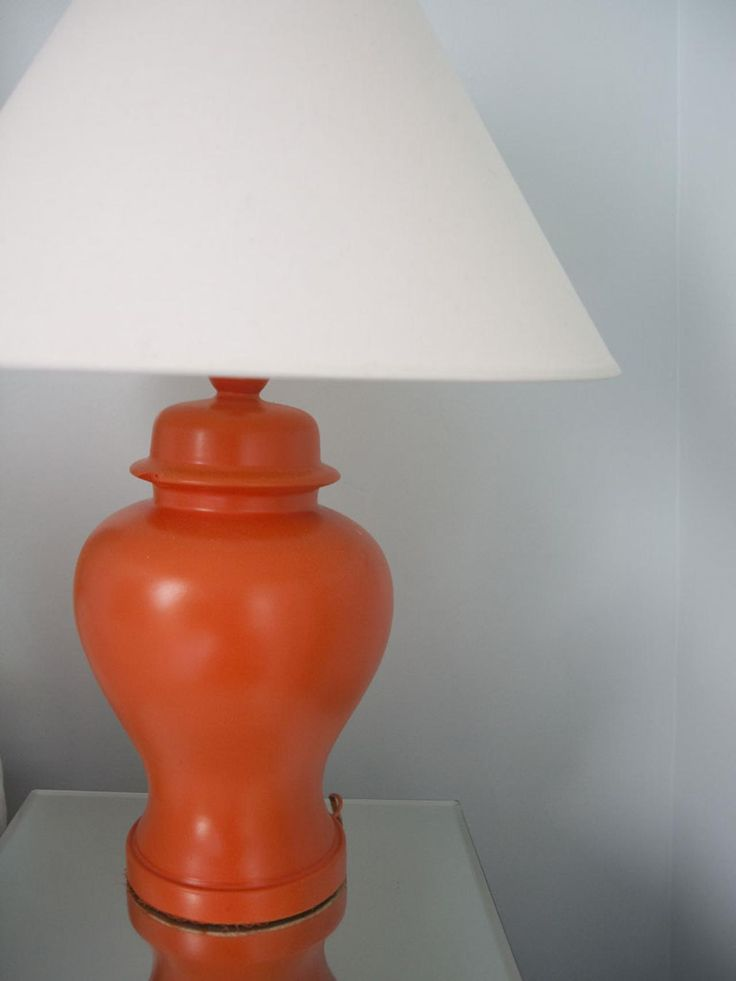 Never let the color of a lamp deter you from taking it home. Ginger jar lamps are readily available at thrift stores (this one was just $6), and can be easily updated with a few coats of paint.