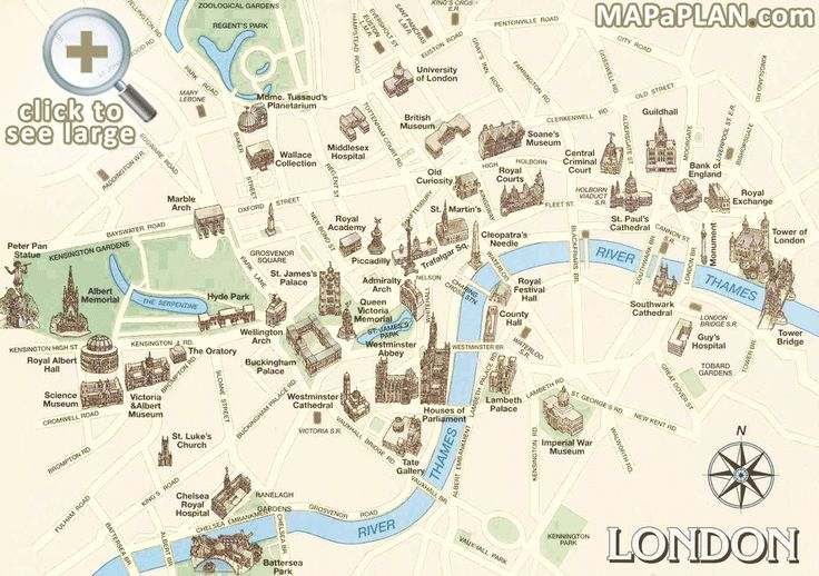 London Top Tourist Attractions Map
