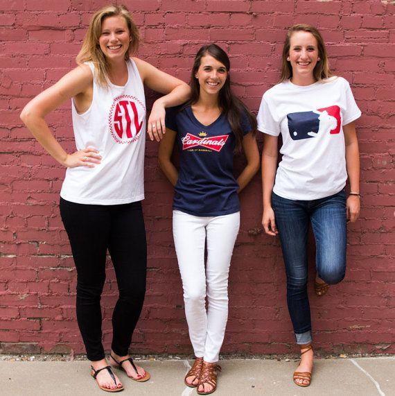 St. Louis Cardinals Baseball MLB T-Shirt by SamiMaurerDesigns