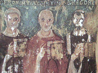 Sant'Agostino fra san Gregorio papa e san Gerolamo
