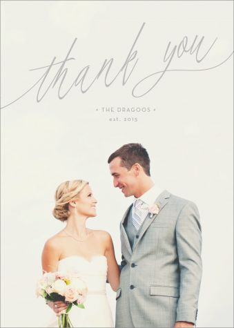 stunning calligraphy design | Handwritten Wedding Thank You Card by Mink