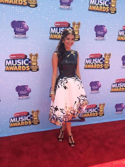 Radio Disney's Maddy rocking her Duck Tape dress on the RDMA red carpet!